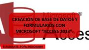 creación de base de datos en Access 2013