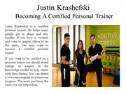 Justin Krashefski Becoming A Certified Personal Trainer