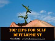 Top Tips for Self Development