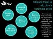 Tips and tricks to help plan a corporate event