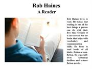 Rob Haines A Reader