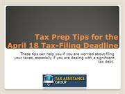 Tips to Tax Prep April 18 Tax-Filing Deadline