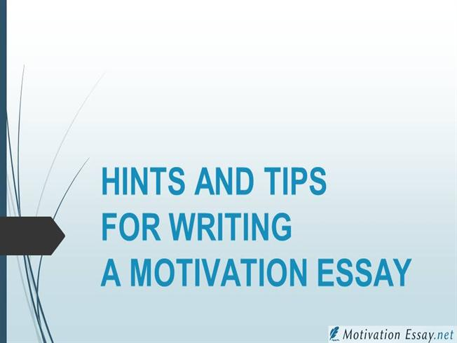 motivation in writing a essay