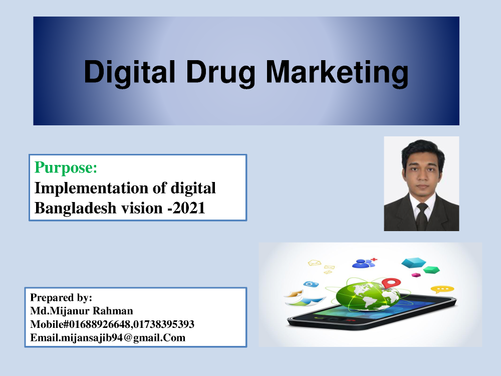Digital Drug Marketing Ppt |authorSTREAM