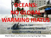 Oceans: No Global Warming Hiatus