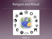Week 12 - Religion and Ritual