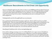 Healthcare Recruitments to find Great Job Opportunity