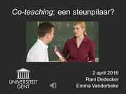 Co-teaching_RaniDedecker_EmmaVanderbeke