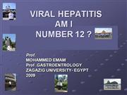VIRAL HEPATITIS AM I NUMBER 12
