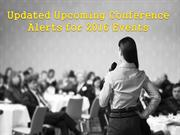 Updated Upcoming Conference Alerts for 2016 Events