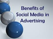 Benefits of Social Media in Advertising
