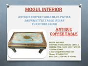 ANTIQUE VINTAGE COFFEE TABLE INDIAN FURNITURE