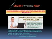 YOUR NUMBER ONE SOURCE TO GET EFFECTIVE  BUSINESS PLAN WRITING HELP