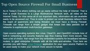 Top Open source firewall for small business