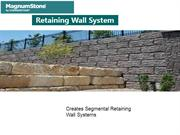 Large Wet-Cast Retaining Wall System