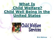 What Is Child Welfare | Child Well Being in the United States