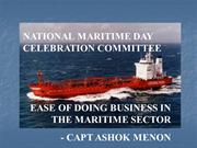 Ease of doing business in the maritime sector