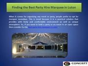 Finding the Best Party Hire Marquee in Luton