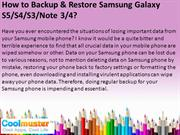 How to Backup & Restore Samsung Galaxy S5