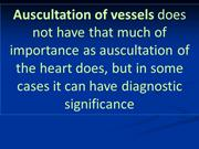 15. Auscultation of vessels