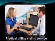 Medical billing claims service
