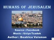 HUMANS  OF  JERUSALEM