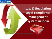 Law & Regulation Legal compliance management system in india
