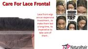 Care For Lace Frontal