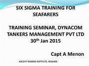 Six Sigma Training for Marine Sector