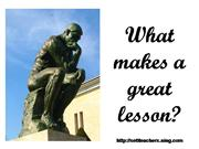 What makes a great lesson -
