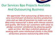our services Offline Data Entry Projects And Data Entry Works