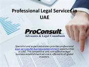 Professional Legal Services in UAE