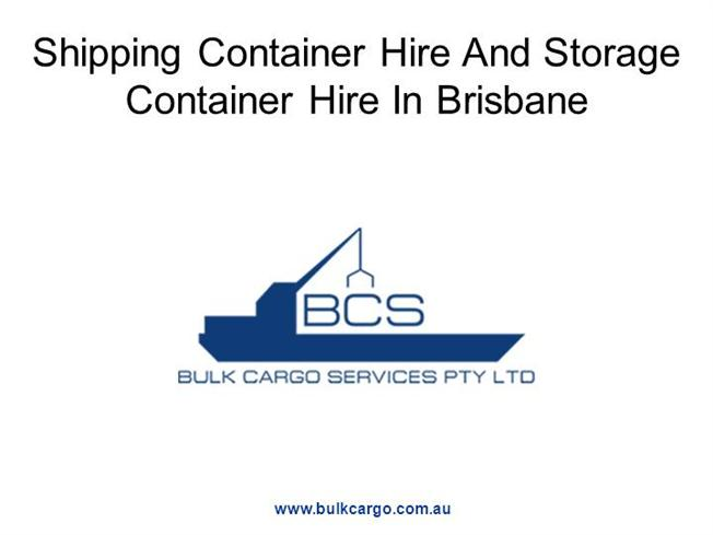 Shipping Container Hire And Storage Container Hire in Brisbane