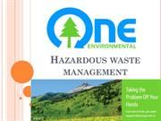 Hazardous Waste Mangement