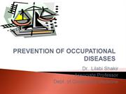 Occupational Diseases Prvention