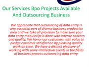 Ascent Bpo Data Entry Process Outsourcing And Data Processing Work
