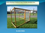 Before Buying a Chicken Coop, Consider Mobility First