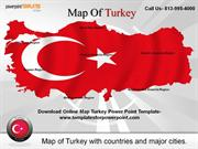 Editable Map Turkey Powerpoint Template