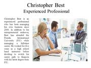 Christopher Best Experienced Professional