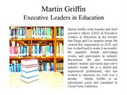 Martin Griffin Executive Leaders in Education