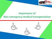 Importance of Non emergency Medical Transportation