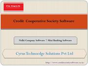 Credit cooperative society software offers by Cyrus Technoedge