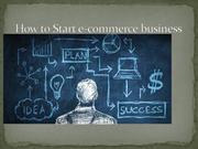 How to Start e-commerce business