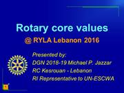 Rotary core values