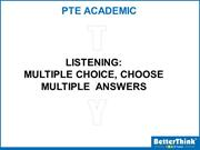 Tuesday PTE Listening (Multiple Choice - Choose Multiple Answers-3) -