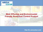 Most Effective and Environmental Friendly Road Dust Control Product