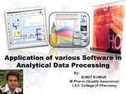 Softwares used in Pharmaceuticals