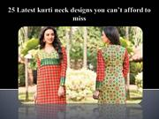 Latest Neck Designs to try in your kurtis