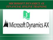 Microsoft Dynamics Ax Financial one to one online  Training