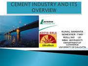 cement industry and its overview